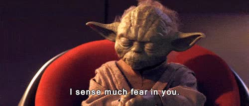 Watch and share Star Wars Yoda Sense Much Fear In You Animated GIFs on Gfycat