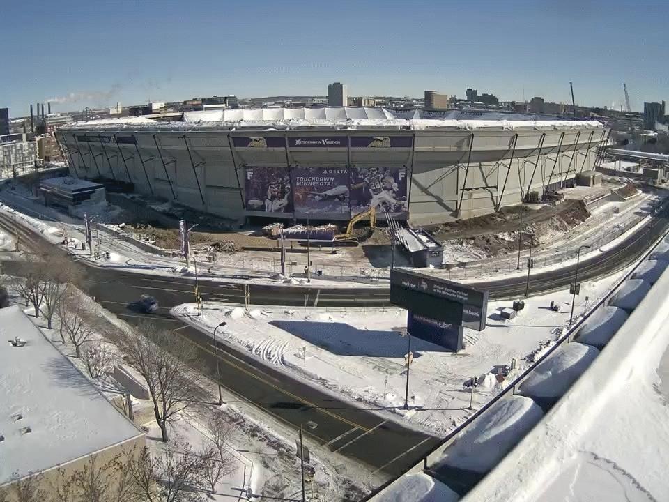 Vikings stadium time lapse GIFs