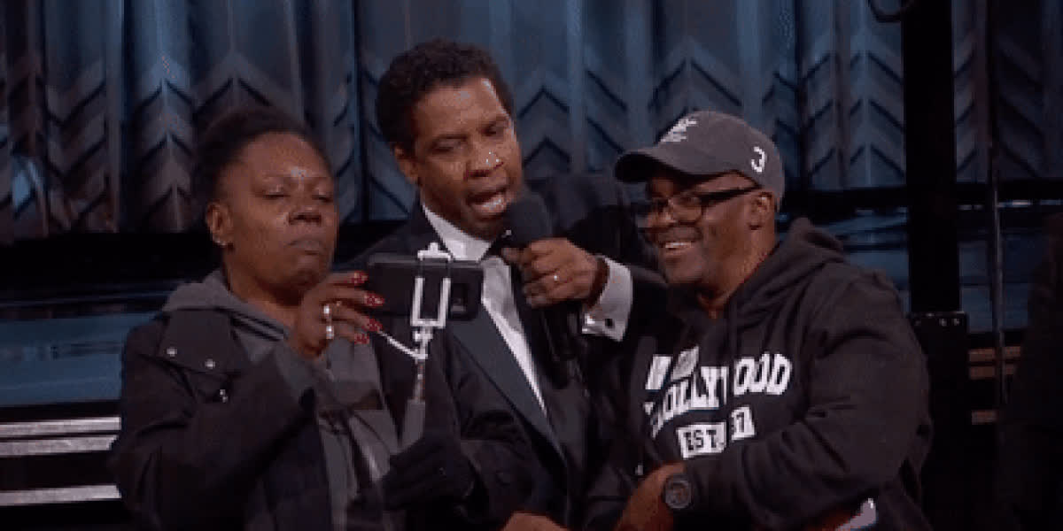 denzel washington, Bulls Offer Oscars' 'Gary From Chicago' Free Tickets to Game GIFs