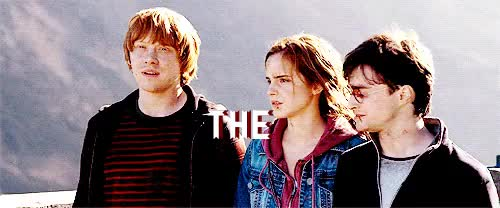Watch and share Hermione Granger GIFs and The Golden Trio GIFs on Gfycat