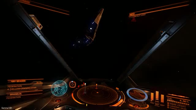 Tailing a Python into combat, I almost get caught in the