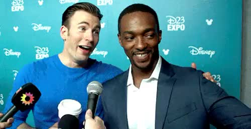 Watch this anthony mackie GIF on Gfycat. Discover more adorable, anthony mackie, cap cast, chris evans, d23, d23expo, marvel, marvel cast, my edits, my gifs, my graphics GIFs on Gfycat