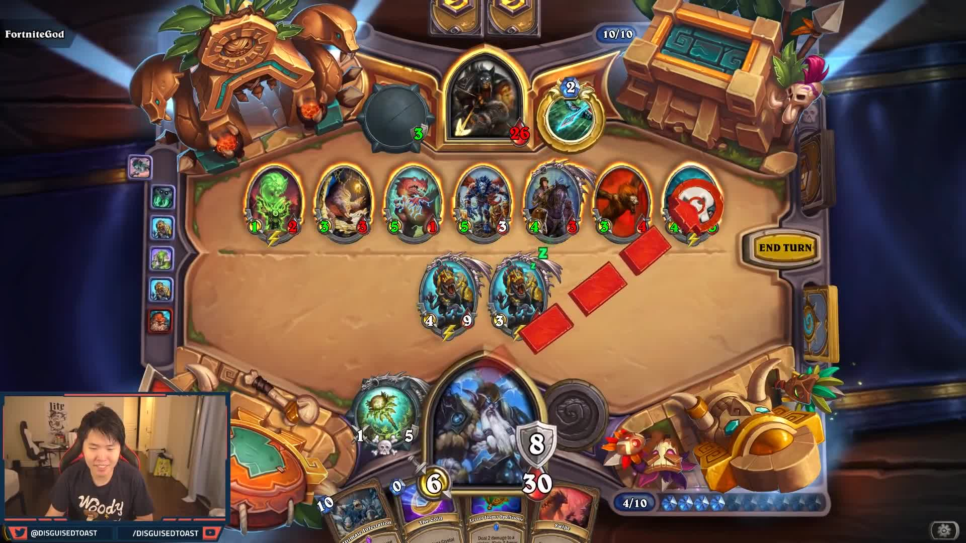 Hearthstone, Highlights, crazy, epic, funny, moments, rastakhan, rastakhan's, rng, rumble, 7 NEW INTERACTIONS from RASTAKHAN'S RUMBLE! | Zentimo | Gonk, The Raptor | Hearthstone GIFs