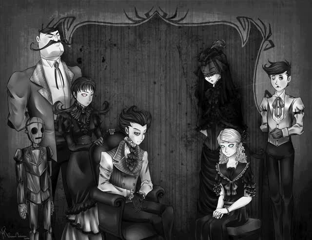 Watch and share Don't Starve: Family Photo By Processormalfunction (Very Cool) GIFs on Gfycat