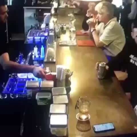 Watch and share Bartender GIFs and Smooth GIFs by MyNameGifOreilly on Gfycat