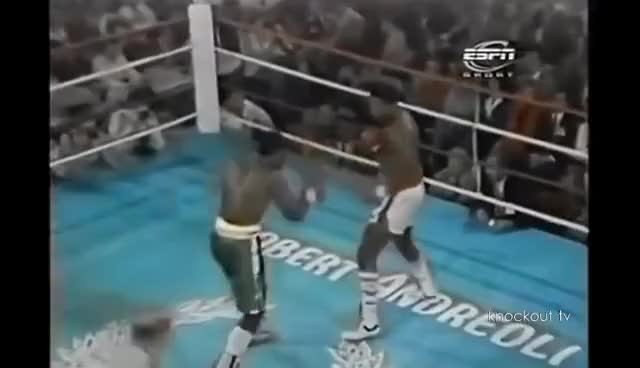 Watch Larry Holmes(44-0) vs Marvis Frazier(10-0)- Big Mismatch GIF on Gfycat. Discover more related GIFs on Gfycat