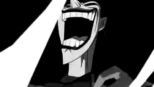 animation, black and white, cartoon, crazy, evil laughter, hoppip, joker, laughing, Joker Crazy Laugh GIFs