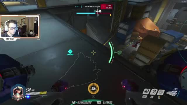 Emongg Playing Overwatch - Twitch Clips