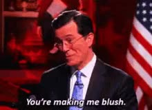 Watch blushing/embarassed GIF by Reaction GIFs (@sypher0115) on Gfycat. Discover more Stephen Colbert, blushing, embarassed, shy GIFs on Gfycat