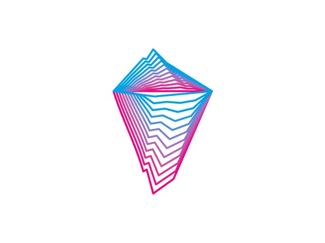 Watch and share Iceberg Tech Geometric Blends Colors Shapes Variations Logo Design Symbol By Alex Tass GIFs on Gfycat