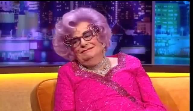 """Watch and share """"Dame Edna Everage"""" GIFs on Gfycat"""