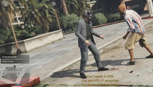 Playing GTA 5 with a realistic damage mod | PC Gamer