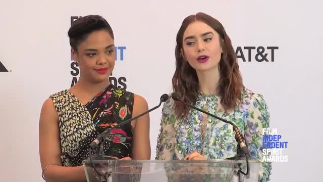 Watch this tessa thompson GIF on Gfycat. Discover more 2018, Hollywood, Spirit, awards, cinema, creed, fashion, film, hollywood, independent, indie, interviews, movies, nominations, nominees, okja, oscars, reveal, spirit, tessa thompson GIFs on Gfycat