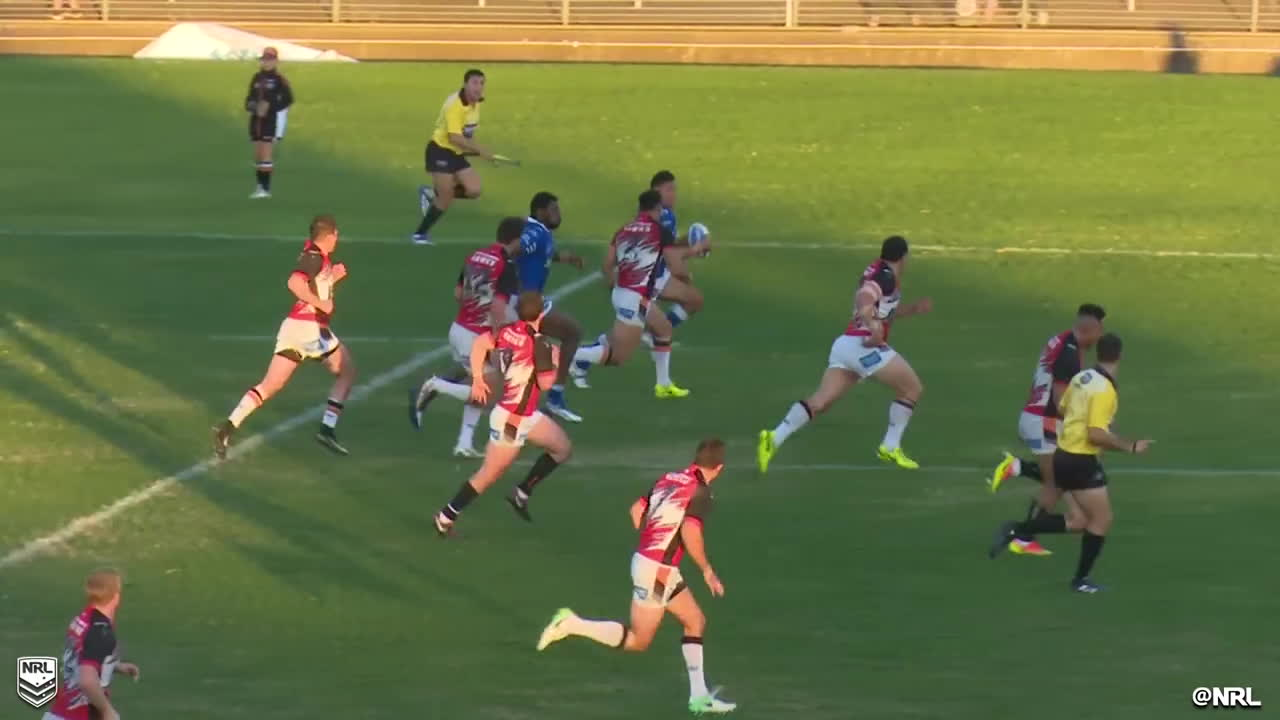 How did he not score? 😱  #IntrustSuperPremiership   #NRL GIFs