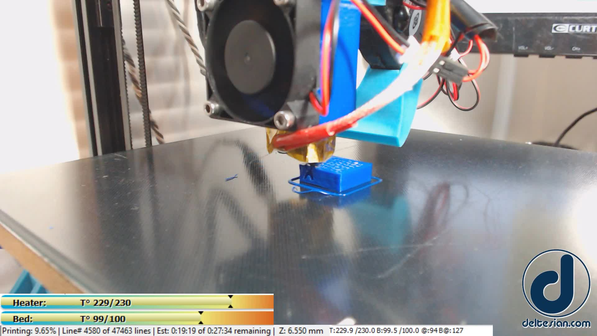 3D Printer, 3D Printing, Deltesian, ABS Fast Print GIFs