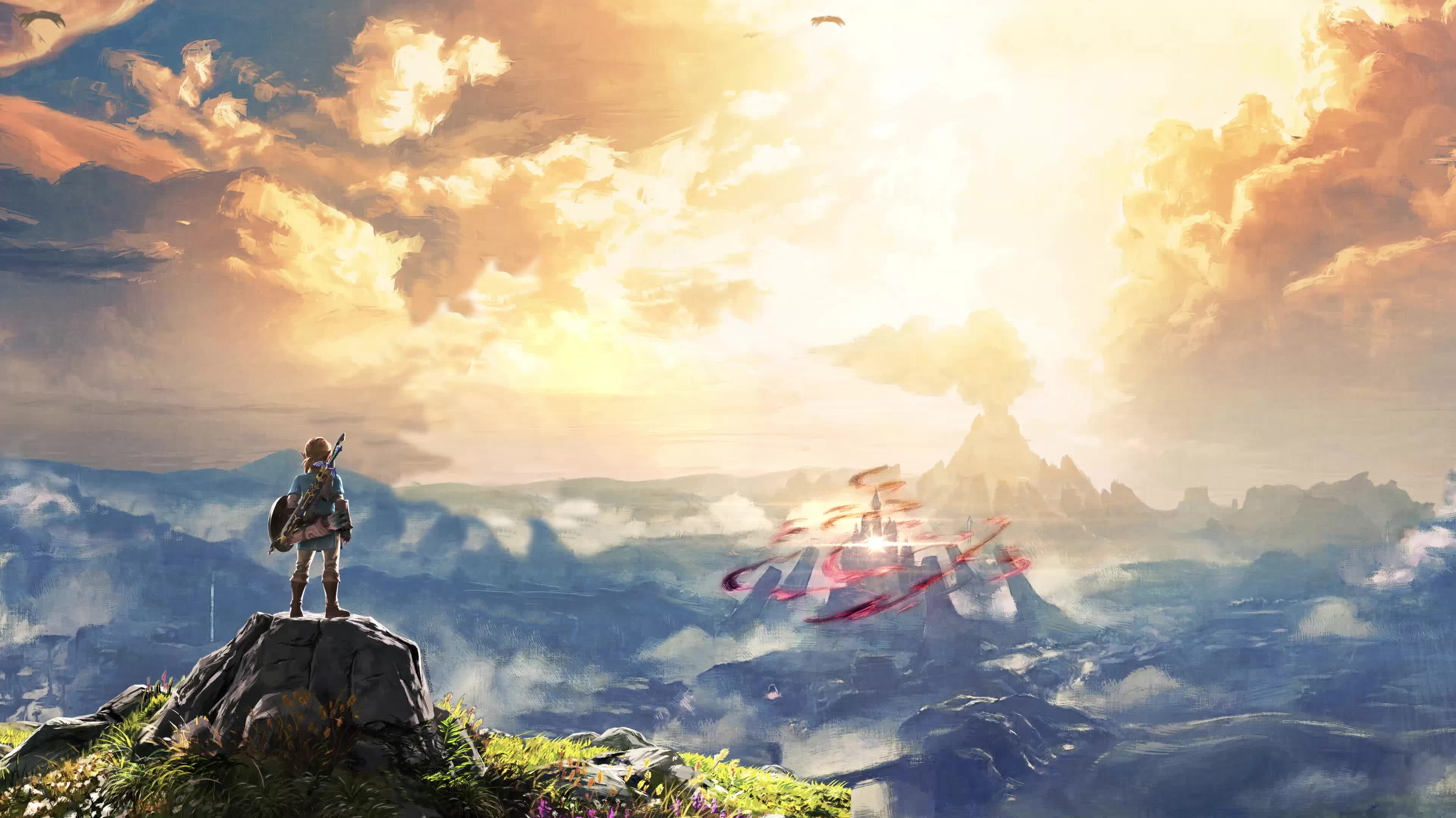 Legend Of Zelda Breath Of The Wild Animated Background Gif By