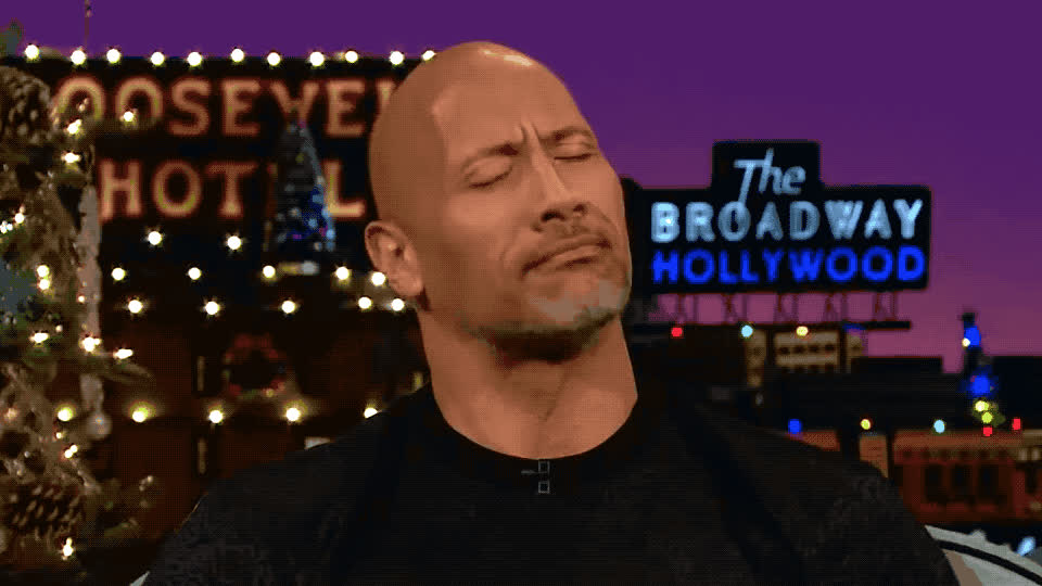 corden, dwayne, first, james, johnson, kiss, late, night, nod, ok, okay, okey, rock, show, sure, the, yay, yep, yes, Dwayne Johnson - Yes GIFs