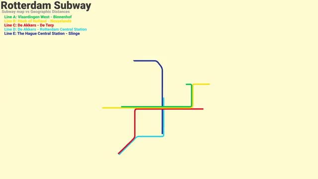 Watch and share Rotterdam Subway Map (September 2017) Vs Geographic Distance GIFs on Gfycat