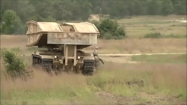 Watch and share M60 AVLB Armored Bridge Layer Laying Bridge. (reddit) GIFs by forte3 on Gfycat