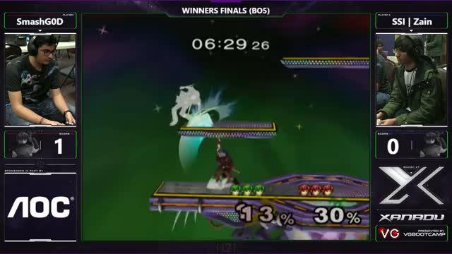S@X Monthly - SmashG0D (Marth) Vs. SSI   Zain (Marth) - SSBM Winners Finals - Smash Melee