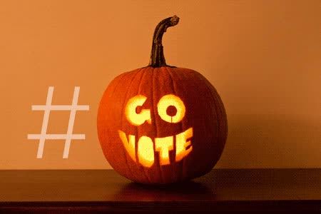 Watch and share Go Vote Jack-o-lantern Gif GIFs on Gfycat