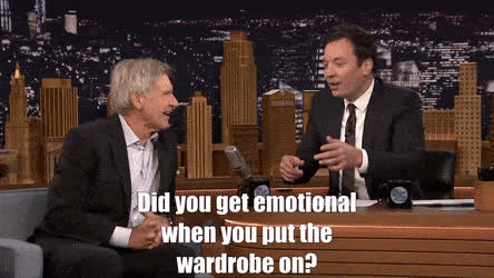harrison ford, Harrison Ford on reprising his role as Han Solo GIFs