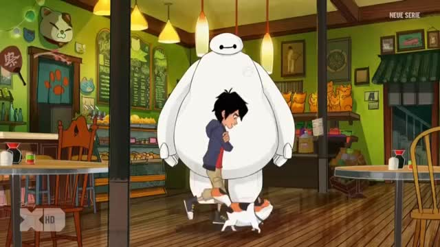Big Hero 6 The Series - Aunt Cass & Allister Sitting On A Tree (Clip)