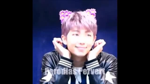 Watch Moment cute Rap Monster | momento tierno RM | Rap Monster Neko GIF on Gfycat. Discover more bts, crack, rm GIFs on Gfycat