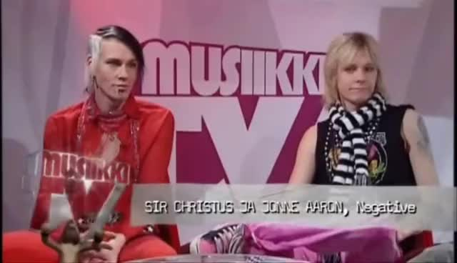 finnish, subtitles, suomi, Negative - Interview Musiikki-tv 04.10.06 GIFs