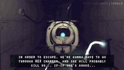 Watch and share Gif Portal Portal 2 Wheatley GIFs on Gfycat