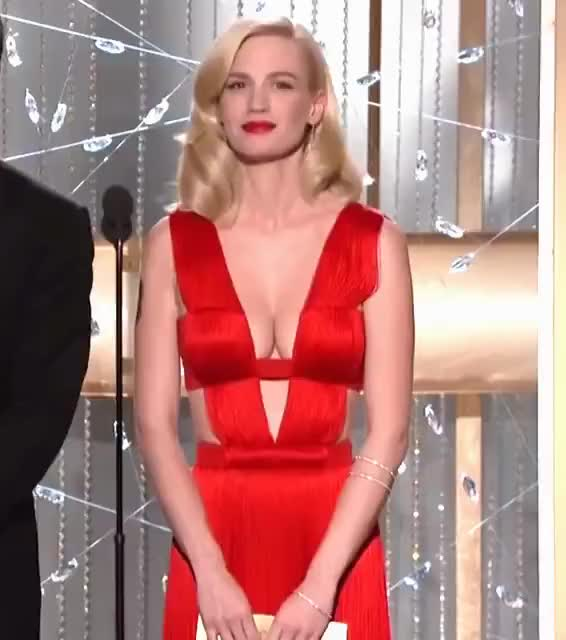 Watch and share Golden Globes GIFs and January Jones GIFs by smoopy on Gfycat