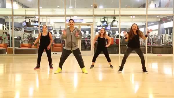 "Watch ""Makina"" Los Teke Teke - Zumba Choreography (reddit) GIF on Gfycat. Discover more related GIFs on Gfycat"