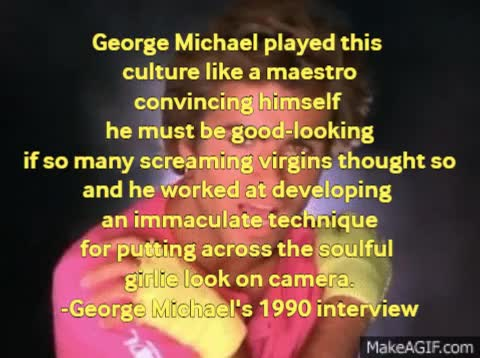 Watch George Michael's Feminine Look (1) GIF by For Barbara (@bardea) on Gfycat. Discover more andrew ridgeley, george michael, go-go, wham GIFs on Gfycat