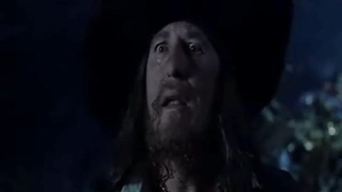 barbosa, piratesofthecarribean, stonerengineering, barbosa death GIFs