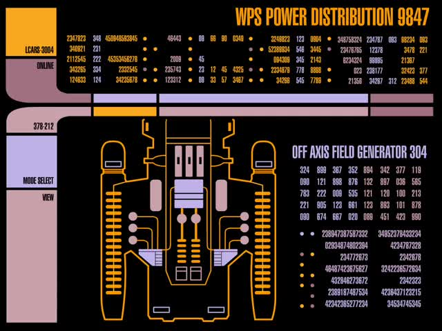 Watch WPS Power Distribution GIF by @chaosoverfiend on Gfycat. Discover more LCARS, Star Trek GIFs on Gfycat
