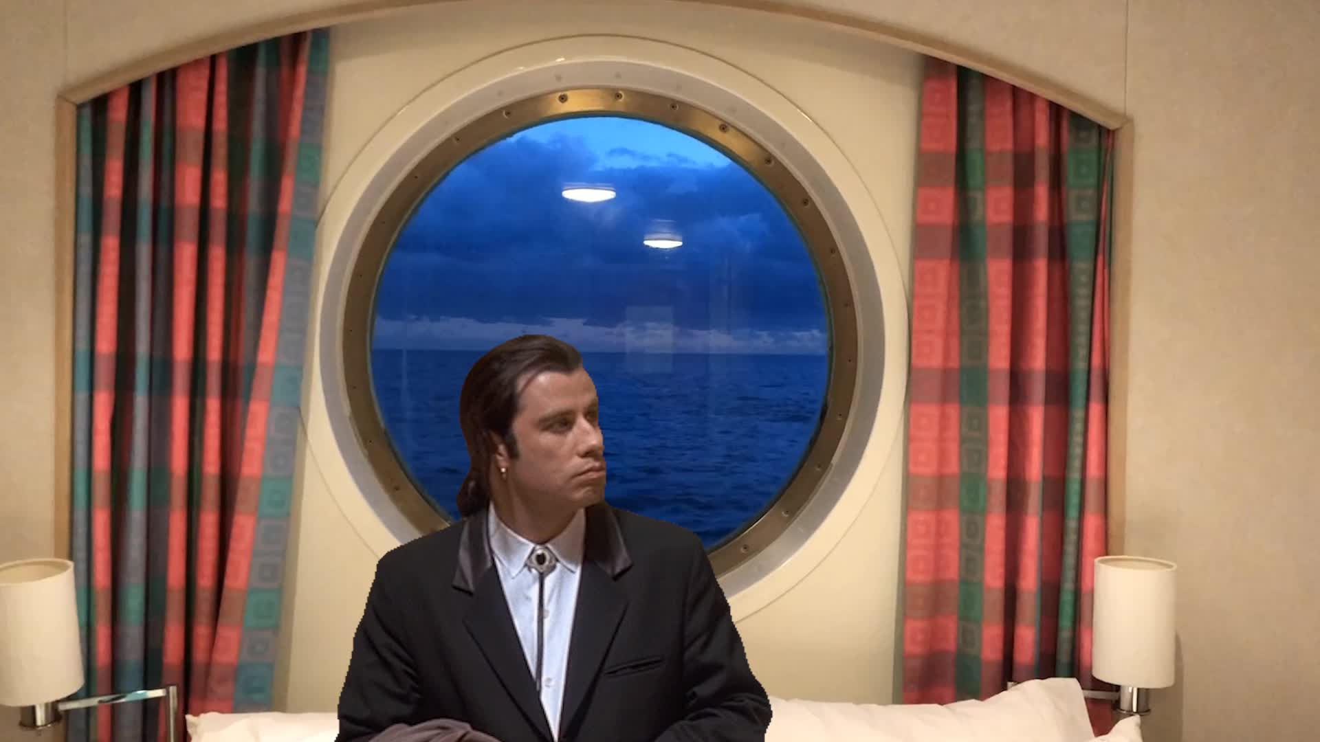 Cinemagraphs, Waves Through The Window Travolta GIFs