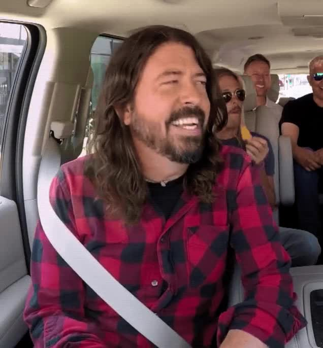 Watch and share Carpool Karaoke GIFs and Foo Fighters GIFs by Reactions on Gfycat