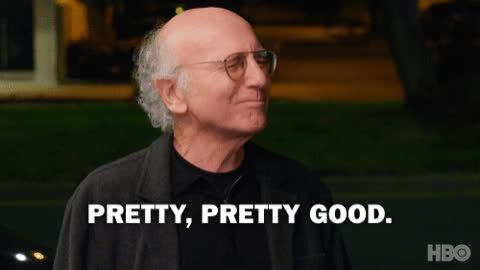 Curb Your Enthusiasm, good, larry david, Pretty Good Season 9 GIFs