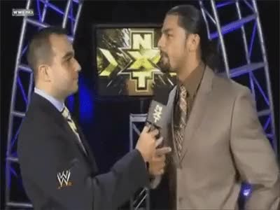 Watch and share You Can't Read Clocks? It's Roman Reigns Time! : SquaredCircle GIFs on Gfycat