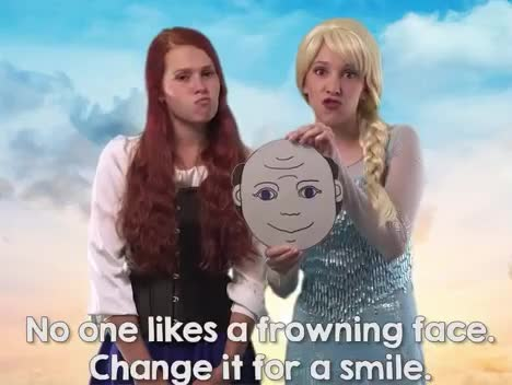 a, be, change, disney, don't, face, for, frown, frowning, it, likes, no, one, only, positive, princess, sad, smile, vibes, No one likes a frownling face GIFs