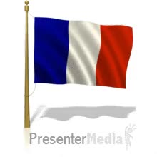 Watch and share ID# 500 - French Flag Flying - PowerPoint Animation GIFs on Gfycat