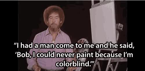 Watch and share Bob Ross animated stickers on Gfycat