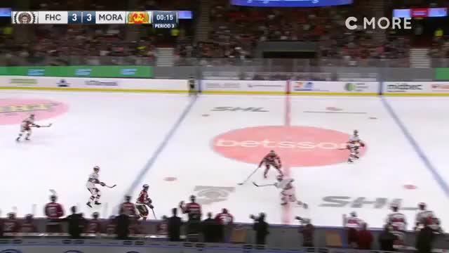 Watch [SHL] Michael Haga wins it for Mora with 2 seconds to go GIF by Beep Boop (@hockeyrobotthing) on Gfycat. Discover more hockey GIFs on Gfycat