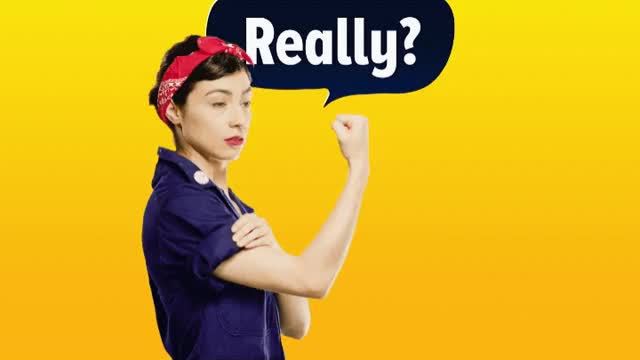 Watch and share Melissa Villasenor GIFs and Rosie The Riveter GIFs by Reactions on Gfycat