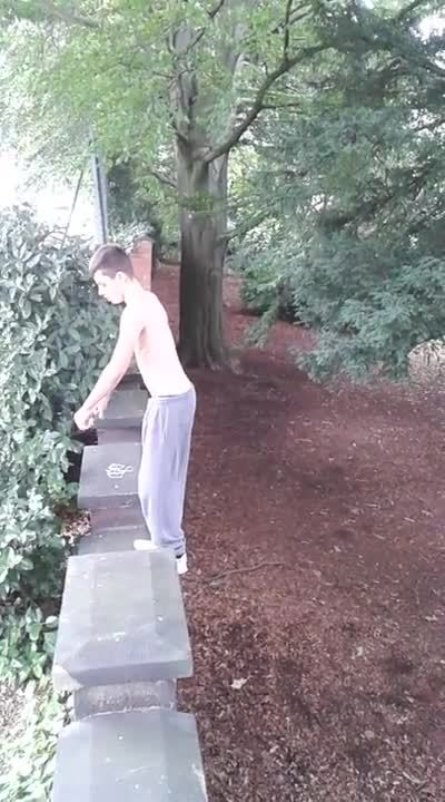 whatcouldgowrong, I'll show off my acrobatic skills here on this bridge, WCGW? (reddit) GIFs