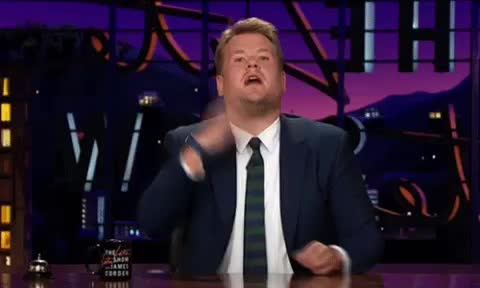 bow, bye, corden, done, end, good, goodbye, goodnight, grateful, james, late, night, show, tada, thank, the, you, James Corden - Thank you GIFs
