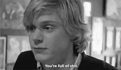 Watch and share Full Of Shit GIFs and Tate Langdon GIFs on Gfycat