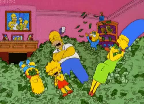 Watch and share The Simpsons Cash Money (Gif) GIFs on Gfycat