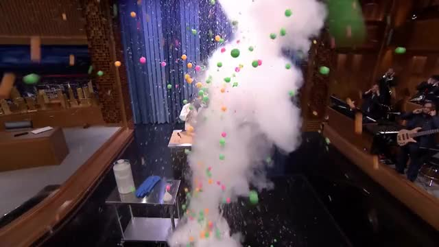 Watch and share Kevin Delaney Explodes Ping Pong Balls GIFs on Gfycat