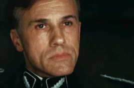 """Watch """"I'm a detective. A damn good detective."""" GIF on Gfycat. Discover more christoph waltz, col. hans landa, helenspreference, inglourious basterds, my gifs, quentin tarantino GIFs on Gfycat"""